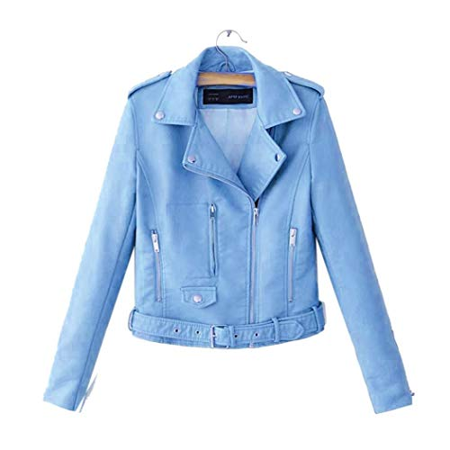 Jackets for Teen Girls,Women Casual Notched Collar Sleeve Zip Jacket Outwear with Waist Strap Faux Leather,Women