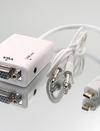 Micro HDMI Male to VGA Female Adapter Cable by HHPH