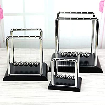 qiguch66 Decorations for Living Room, Classic Newtons Cradle Kinetic Balls School Educational Prop Toy Desktop Decor - Small: Home & Kitchen