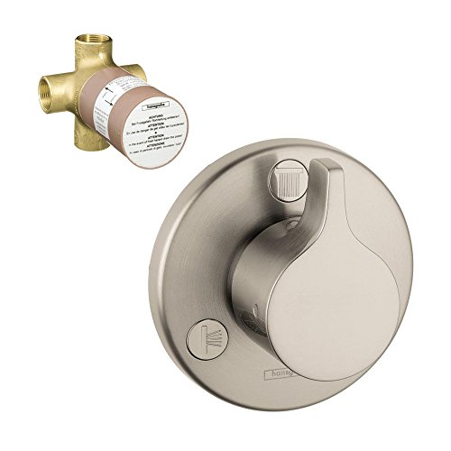 Hansgrohe K04354-15930BN-2 E/S Trio/Quattro Trim with 3-Way Diverter Rough-In, Brushed Nickel ()