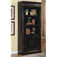 Coaster Home Furnishings 800923 Traditional Bookcase, Black and Cherry