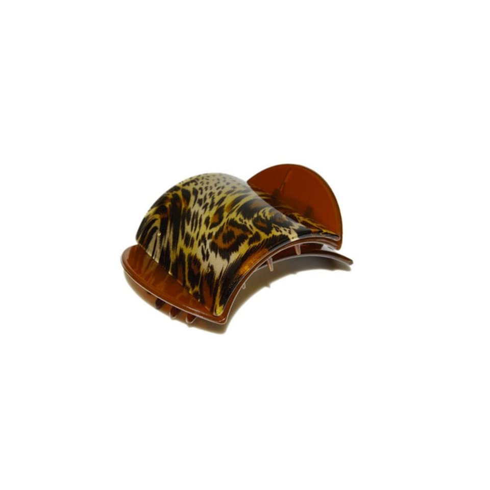 Lucia Brown Leopard Print Large Hair Clip Clamp