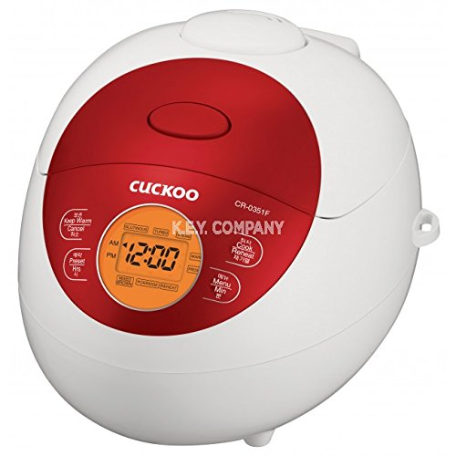 Cuckoo CR-0351F 3 Cup Electric Warmer Rice Cooker, 110v, Red