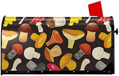 ウェルカムメールボックスは、多くの異なる食用キノコをカバーします磁気ラップレターボックスポストボックスカバーガーデンヤードの装飾25.5x21 インチ