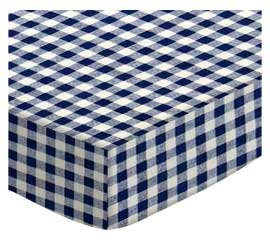 Cheap SheetWorld Fitted Square Playard Sheet 37.5 x 37.5 (Fits Joovy) – Royal Gingham Check – Made In USA