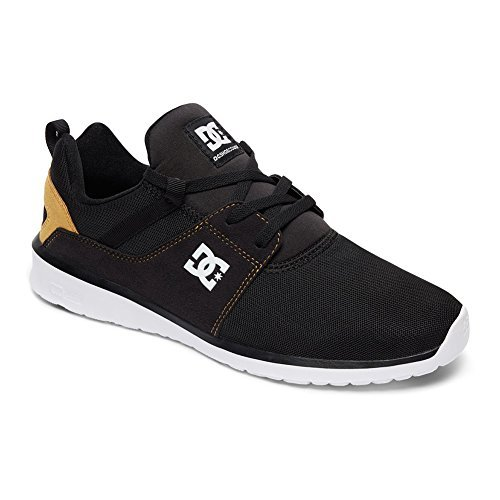 DC Men's Heathrow Casual Skate Shoe B01LCREEB0 8 D(M) US|Black/Tan