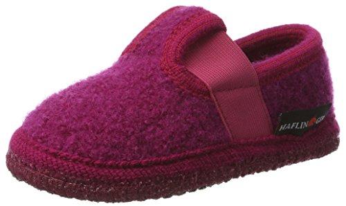 Haflinger Joschi 621002 - Zapatillas de casa de tela para niños Kardinal