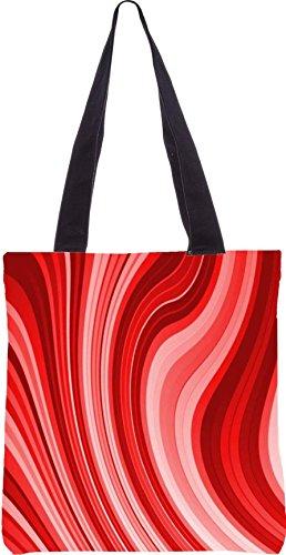 Snoogg Durchfluss-Design 2369 13.5 x 15 Zoll-Shopping-Dienstprogramm-Einkaufstasche aus Polyester-Segeltuch gemacht