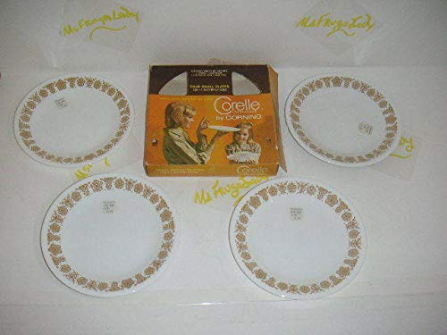 Corning Corelle Butterfly Gold Bread & Butter Plates 6 3/4