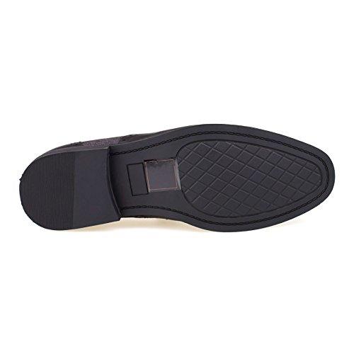 Schwarz mit Footwear Sandalen Durchgängies Herren London Plateau Keilabsatz ARSq7wOH