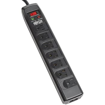 Merveilleux Tripp Lite 7 Right Angle Outlet Surge Protector Power Strip, 6ft. Cord,  Right