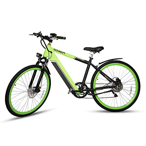 NAKTO Electric Mountain Bike 36V/10AH Lithium Battery 350W High Efficiency Brushless Motors Adult Electric Bicycles 2019 New 6-Speed System Ebike (Best Electric Bicycle 2019)