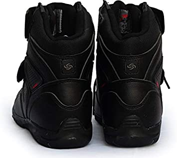 TOHHOT Soft Motorcycle Boots Biker Waterproof Speed Motorboats Men Motocross Boots Non-slip Motorcycle Shoes