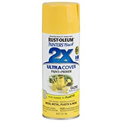 Rust-oleum 249092 Painter's Touch Multi Purpose Spray Paint, 12-ounce, Sun Yellow