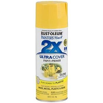 Rust-Oleum 249092 Painter's Touch Multi Purpose Spray Paint, 12-Ounce, Sun Yellow