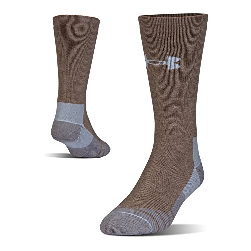 Under Armour Hitch Heavy 3.0 Boot Socks, 1-Pair, Hearthstone/Steel, Shoe Size: Mens 12-16 from Under Armour