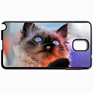Customized Cellphone Case Back Cover For Samsung Galaxy Note 3, Protective Hardshell Case Personalized Cat Snout Background Black