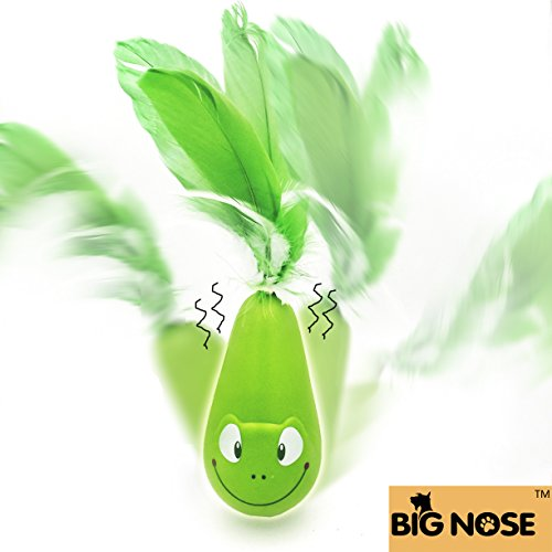 Bignose Interactive Cat Toys,Self Vibrate Tumbler with Feather