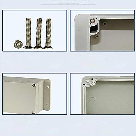 blanco BE-TOOL IP65 caja de derivaci/ón Caja de proyectos el/éctrica ABS DIY para proyectos electr/ónicos unidades de fuente de alimentaci/ón Caja de instrumentos impermeable 1 pieza, gris