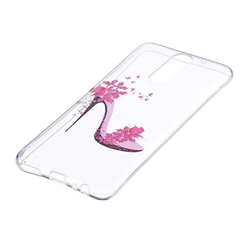 Funda para Huawei Mate 10 Lite , IJIA Transparente Zapatos De Tacón Alto TPU Silicona Suave Cover Tapa Caso Parachoques Carcasa Cubierta para Huawei Mate 10 Lite (5.9)