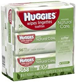 Natural Care Wipes Sensitive packs