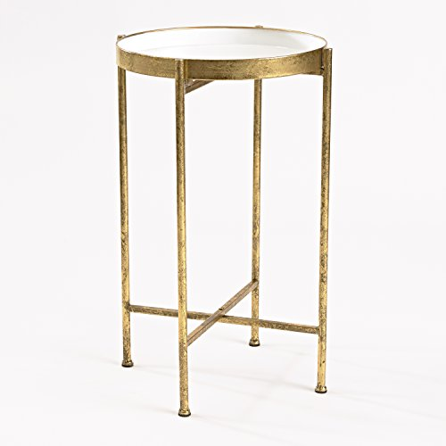 Innerspace Luxury Products Gild Pop Up Tray Table  Small  White