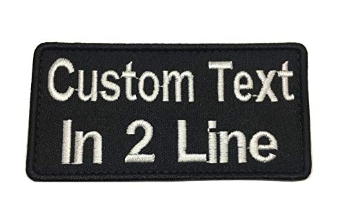 2 Lines , Jumbo Text Custom Personalized  Name Tape with Hook Fastener Backing /Tactical Name Tape, Morale Patch