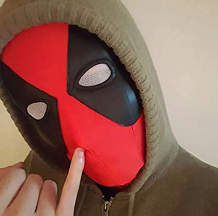 Máscara de látex para disfraz de Halloween de Deadpool
