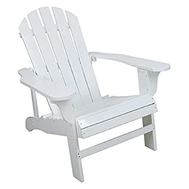 Classic White Painted Wood Adirondack Chair