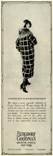 1922 Ad Bergdorf Goodman Retail Store Fur Coats Fashion Clothing Price New York - Original Print Ad from PeriodPaper LLC-Collectible Original Print Archive