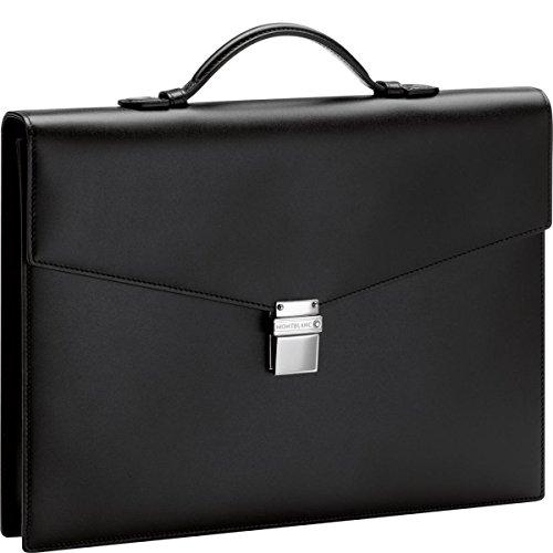 MontBlanc Meisterstuck Classic Single Gusset Briefcase - Black