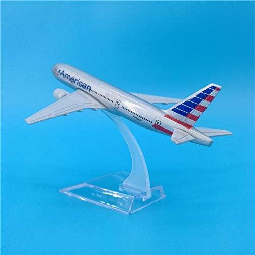 16cmアメリカン航空ボーイング777メタルプレーンモデル装飾ギフトDIYアメリカンB777航空機