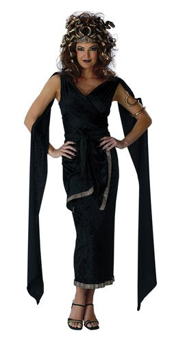 Disguise Medusa Adult Halloween Costume, Large (12-14), Black
