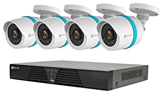 EZVIZ QUAD HD 4MP Outdoor IP PoE Surveillance System, 4 Weatherproof