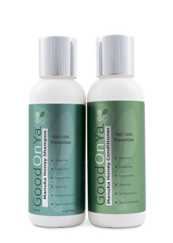 Hair Loss Prevention Shampoo and Conditioner Set with Manuka