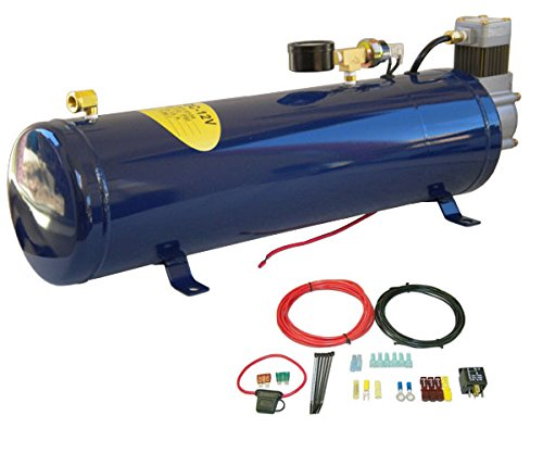 MPC All-in-One Onboard Air Compressor System Kit for Truck Horn & Train Horn 130 PSI - 1 Gallon Tank