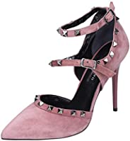 ALBANO Pumps-Shoes Womens Suede Pink