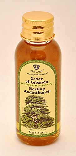 Lebanon Anointing Oil - Ein Gedi Biblical Essential Anointing Oil 30ml From Holy Land Jerusalem by Bethlehem Gifts TM (Cedar of Lebanon Healing)