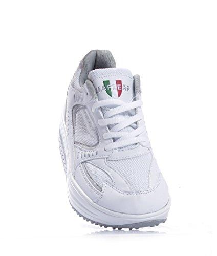 Scarpe Uomo Sneaners Fitness Dimagranti Sportive Ginnastica BIANCO