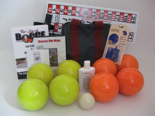 Everything Bocce Package - 110mm Epco Yello and Orange Balls, Score Tower, Hi... by Epco