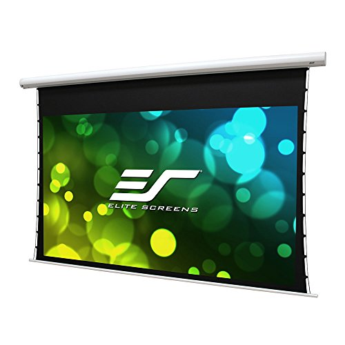 (Elite Screens Saker Tab-Tension CineGrey5D B, 120-inch Diag 16:9, Tensioned Electric Projection Projector Screen, SKT120XHD5B-E12)