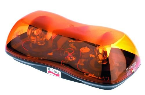Britax Double Twin Rotating Mini Lightbar Amber Single Bolt Beacon - A421.00.24V Britax / Ecco