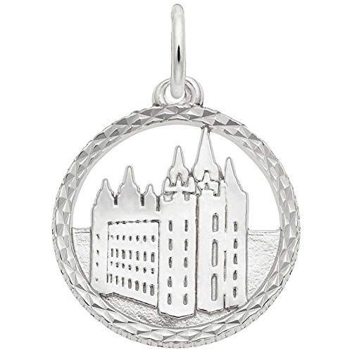 Rembrandt Charms Mormon Temple Charm, Sterling Silver