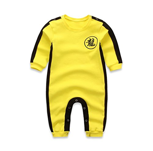 Hannah fit Infant and Toddler Bodysuit Footies (M(6-9 Months, Bruce Lee's) -