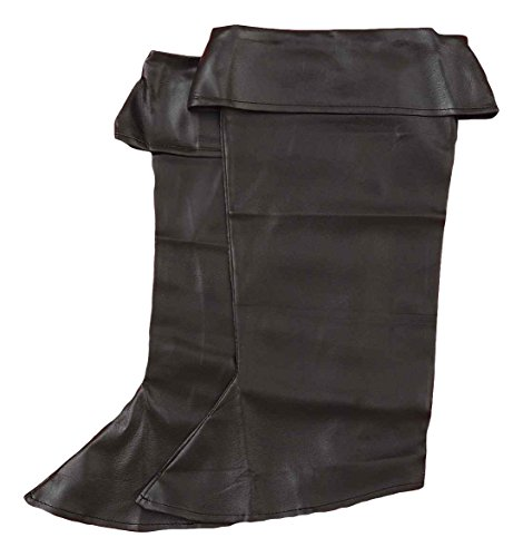 Forum Novelties Child Vinyl Pirate Boot Covers, Black