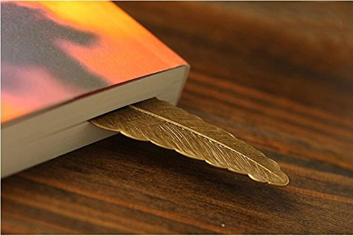 EKLOEN 6pcs Different Color Vintage Feather Metal Bookmarks Book Marker for School Supplies Stationery Gift by EKLOEN (Image #4)