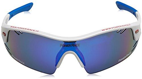 Power Race Mirage Lunettes Blanc/bleu