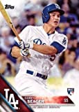 #2: 2016 Topps Baseball #85 Corey Seager Rookie Card – His 1st official Rookie Card!