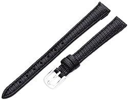 Hadley-Roma Women's LSL725RA 100 10-mm Black Java Lizard Grain Watch Strap