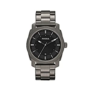 Fossil Men's 42mm Machine Smoke IP Stainless Steel Dress Watch